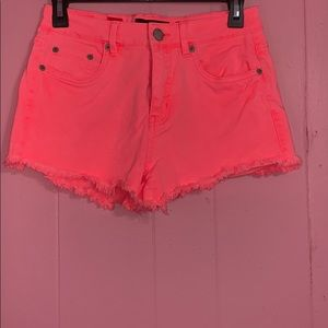 Pants - Aeropostale neon pink high waisted denim shorts
